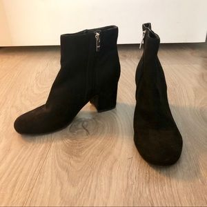 Marc Fisher Shoes - MARC FISHER Low Ankle Suede Black Boots Booties 6